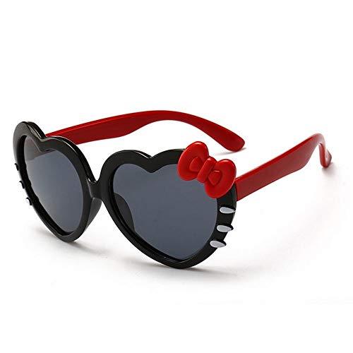 MOJINGLIN Gafas De Sol Bebés Corazón Gafas De Sol Niños Polarizados Niños Chica Gato Eyegalsses Espejo Sun Glass Baby, S