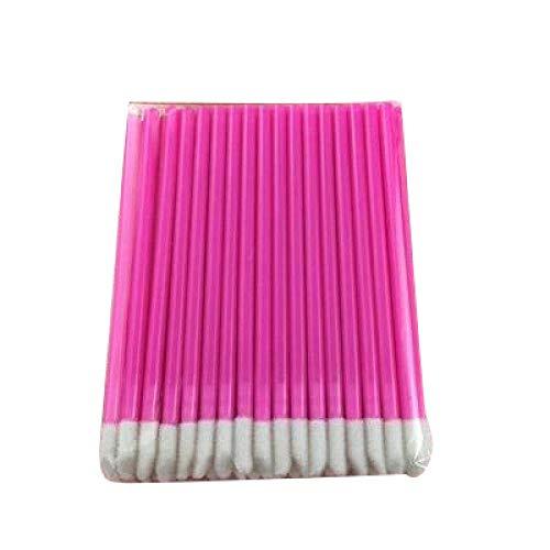 Hengyixing 100 Stück Einweg-Kosmetik-Lippenpinsel Lippenstift Lip Glossy Wands Stiftreiniger Applikator Lidschatten-Make-up-Pinsel Werkzeuge