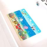 Kids Non-Slip Bath Mat Shower Mats - Cartoon Non-Slip Bathroom Bathtub Kid Mat for Baby Toddler...
