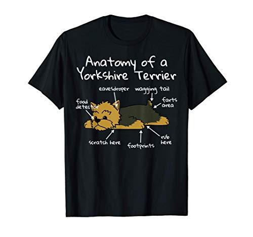 Anatomy Of A Yorkshire Terrier Perro Camiseta