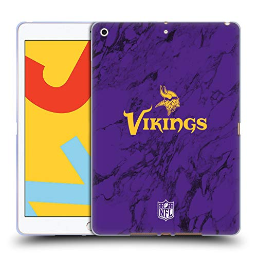 Official NFL Coloured Marble 2018/19 Minnesota Vikings Soft Gel Case Compatible for Apple iPad 10.2 (2019)/(2020)