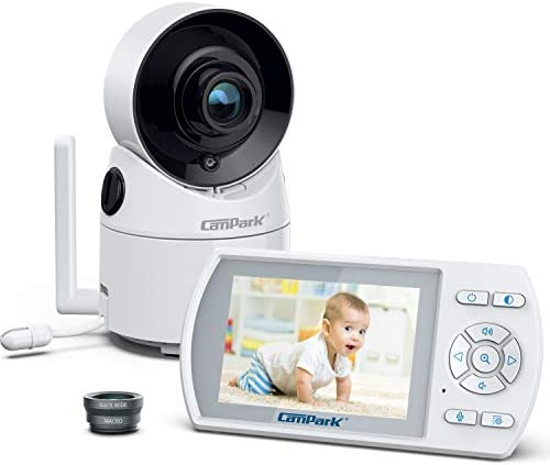 Campark Baby Monitor with Camera and Audio 355 Remote Pan Digital Zoom Interchangeable Optical product image