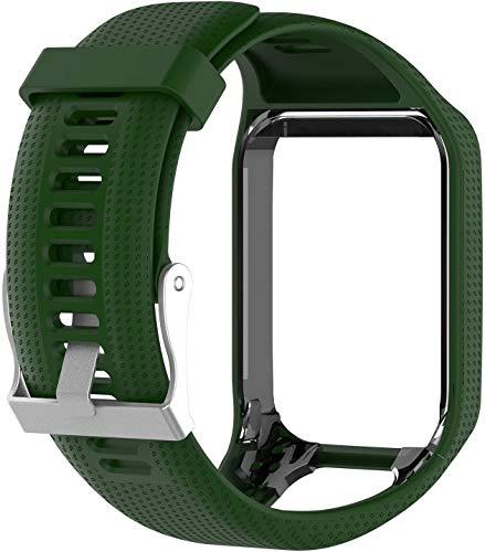 Axcellent Band per Tomtom Runner 2 3,Spark 3,Golfer 2,Adventurer - Braccialetto in Silicone con Cinturino di Ricambio - Accessori GPS Smart Watch