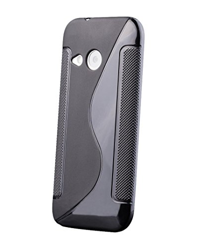 HTC One Mini 2 - M8 Mini | iCues S-Line Black Case Schwarz | [Bildschirm Schutzfolie Inklusive] Silikon Gel Schutzhülle Hülle Cover Schutz