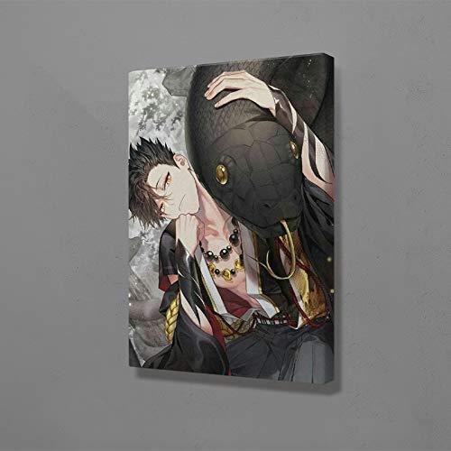 wZUN Lienzo HD Impresiones Kuro Tetsuro Pintura Arte de Pared animación Japonesa Pintura de Personajes decoración del hogar 60x90 Sin Marco