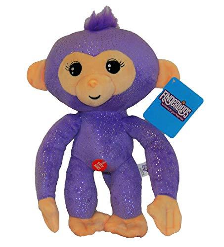 WowWee Fingerlings knuffel aap met geluid 28 cm verschillende karakters voor kinderen (Sophie (wit))