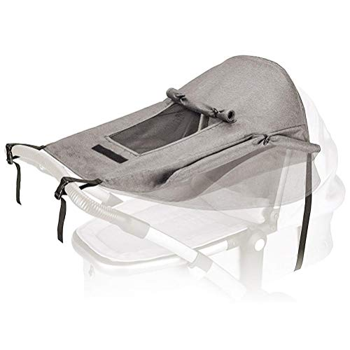 Sun Sail for Pushchairs Universal Pushchair Sun Protection Cover Stroller Sun Cover con ventana y alas anchas