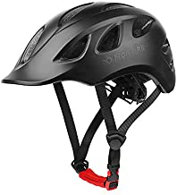 MOKFIRE Adult Bike Helmet Adjustable Lightweight Urban Casual Commuter Cycling Bicycle Helmet for Women and Men - Size (22.44-24.01 Inches) - Black