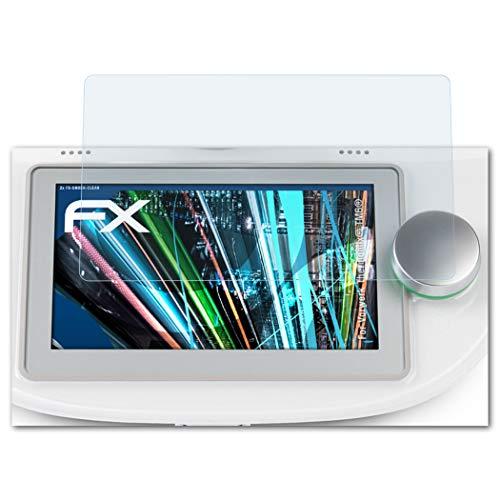 atFoliX Schutzfolie passend für Vorwerk Thermomix® TM6®, Panzerfolie ultraklare und stoßdämpfende FX Folie (2X)