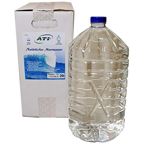 Orig. ATI - 100% reines und natürliches Meerwasser für Meerwasser Aquarien Aquarium - Labor geprüft und direkt verwendbar! Inhalt: 20 Liter (2X 10 Liter Gebinde)
