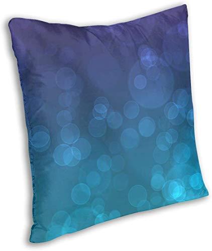 Keyboard cover Butlerame - Fundas de cojín cuadradas con burbujas, color morado y azul, para banco, 45 x 45 cm, decoración navideña