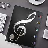 Carpeta De Modificación De Partitura De Piano Carpeta De Partitura A4 40 Páginas Para Cambiar El Tamaño De Este Instrumento Carpeta De Modificación De Partituras Negro A4
