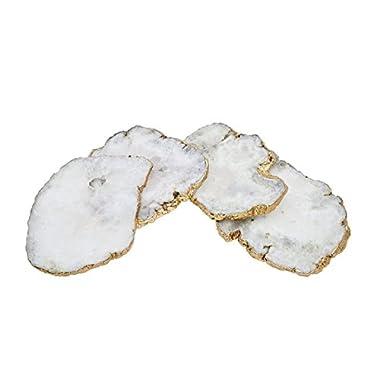 Godinger Silver Art White Quartz Csrts Brs Edge Set of 4
