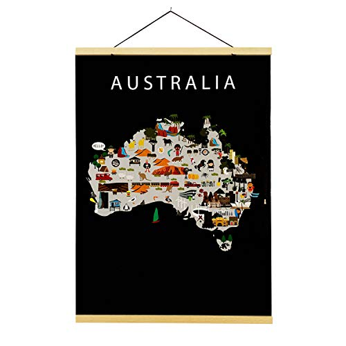 Map of Australia | B2 poster | 50x70 cm | Maison Maps