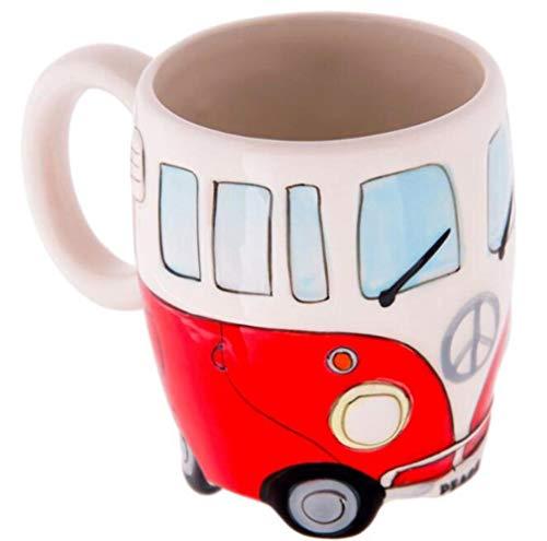 Mokken 400 ml Handschildering Dubbele bus Mokken Keramische kop Koffie Melk Thee Drinkwaren Geschenken Koffie Melk Thee mok Rood
