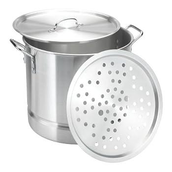 vasconia 32 quart aluminum steamer with lid