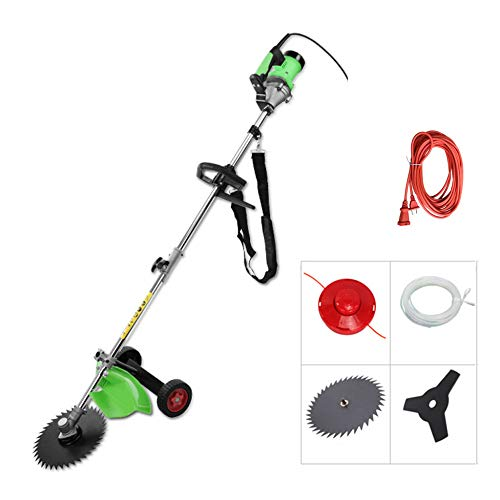For Sale! XGGYO Commercial Corded Trimmer, Cutting Path 23 cm, Lightweight Wheeled Strimmer, Includes Various Blades / 1800W / Trimmer +20m Power Cord