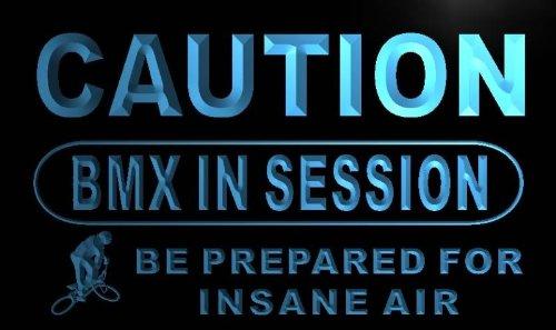 ADVPRO Insegna al Neon m547-b Caution BMX in Session Neon Light Sign