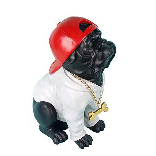 ZJN-JN Estatuas Las estatuas estatuilla estatuillas estatua figurilla creativo Bulldog francés moderno Escultura Animal estatua de la resina Figuras lindo perro casa decoración hecha a mano Crafts Acc