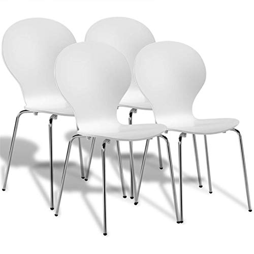 lisansang Silla de comedor apilable diseño de mariposa sillas para sala de estar