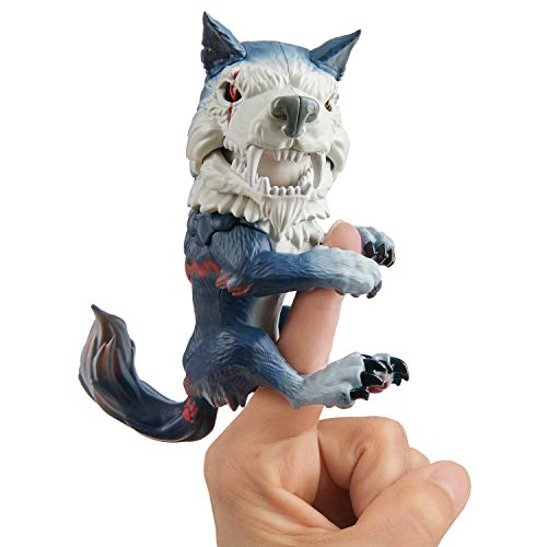 Untamed Dire Wolf by Fingerlings – Midnight (Black and Red) – Interactive Collectible Toy – By WowWee
