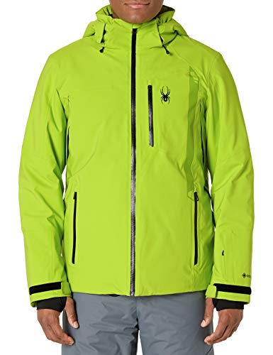 Spyder Men's Tripoint Gore-Tex Ski Jacket – Male Full-Zip Hooded Winter Coat, Large, Mojito