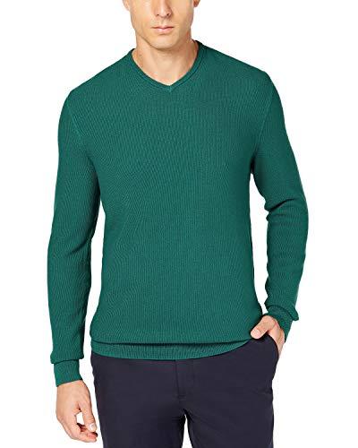 Tasso Elba Mens Seed Stitched Supima Cotton Sweater Green S