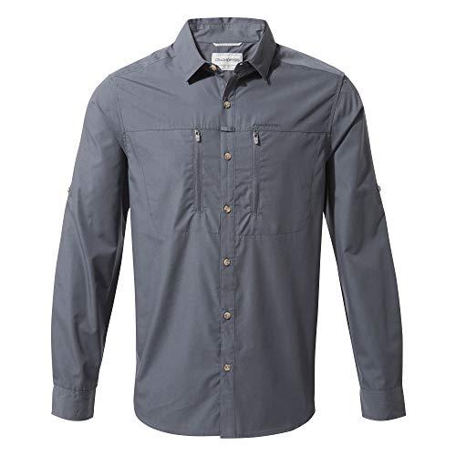 Craghoppers Kiwi Boulder Long Sleeved, Camicia a Maniche Lunghe Uomo, Blu sfumato, XL