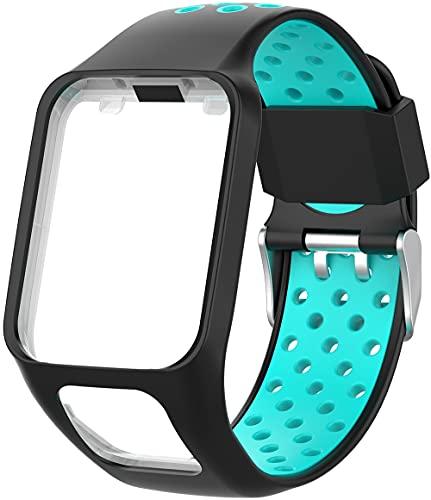 Classicase Correa de Reloj Compatible con Tomtom Spark/Spark 3 / Runner 2 / Runner 3 / Golfer 2 / Adventurer, Impermeable Reemplazo Correas Reloj Silicona Banda (Pattern 6)
