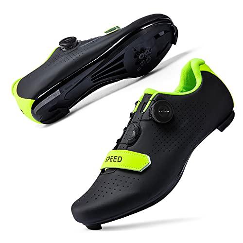Mens or Womens Road Bike Cycling Shoes Peloton Bike Shoes Compatible SPD Riding Shoe Indoor/Outdoor Size Men's 10/Women's 12...