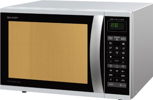 Sharp R-971INW forno a microonde, 1050 W, 40 L, Argento