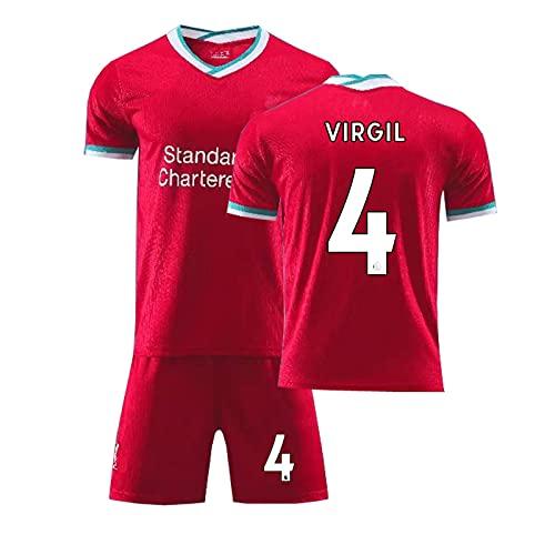 GYLMXF 2021 Liverpool Camiseta de fútbol n. ° 11 Camiseta de Salah Conjunto Camiseta de Padres e Hijos de Local y visitante