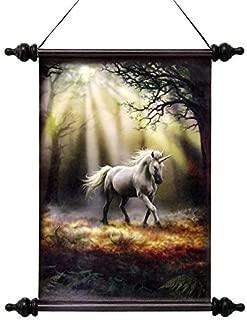 Design Toscano Glimpse of a Mystic Unicorn Canvas Wall Scroll, Full Color