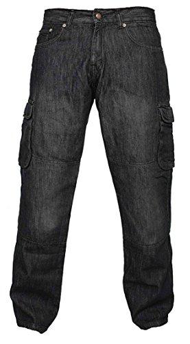 Newfacelook Denim Motorradhose Rustungen Motorrad Hose Arbeitshosen Jeans Fracht Verstärkt durch Aramid Schutzauskleidung W34-L30