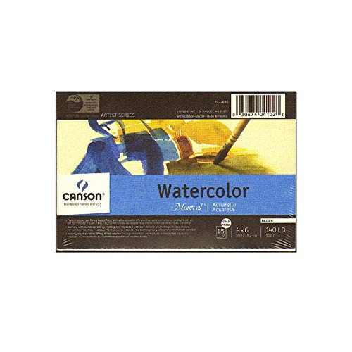 Canson Montval Watercolor Paper 4 in. x 6 in. Block of 15 140 lb. Cold Press [Pack of 3 ]
