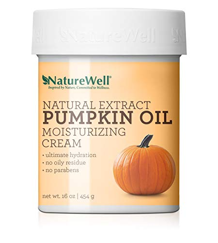 NatureWell Natural Extract Pumpkin Oil Moisturizing Cream for Face & Body, 16 oz.   Provides Ultimate Hydration & Gentle Exfoliation with No Oily Residue