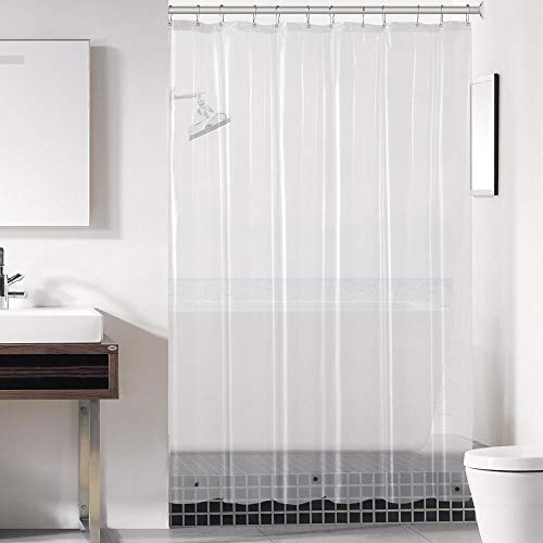 downluxe Clear Shower Curtain Liner 72x72 - PEVA 3 Gauge Light Weight,Waterproof,Odorless with Rust-Resistant Grommets Holes
