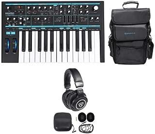 Novation BASS STATION II 25-Key Keyboard Synthesizer+Carry Bag+Headphones