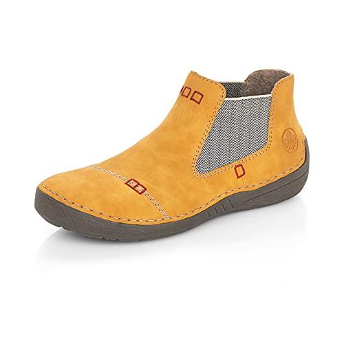 Rieker Damen Klassische Stiefel 52590, Frauen Stiefel,uebergangsschuhe,Women's,Woman,Lady,Ladies,Boots,Winterschuhe,gelb (69),38 EU / 5 UK