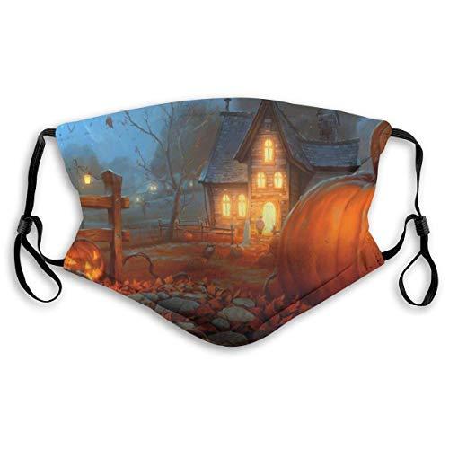 Gezichtsmaskers Scary Happy Halloween sportmasker tegen stof beschermde glimlachende maskers wasbaar herbruikbaar mondmasker wit