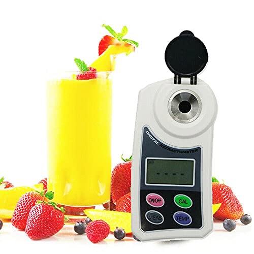 YFYIQI Digital Refractometer Brix Meter Tester for Measuring Sugar Content Water Samples Food Fruits Crops Range 0 to 55.0% Brix