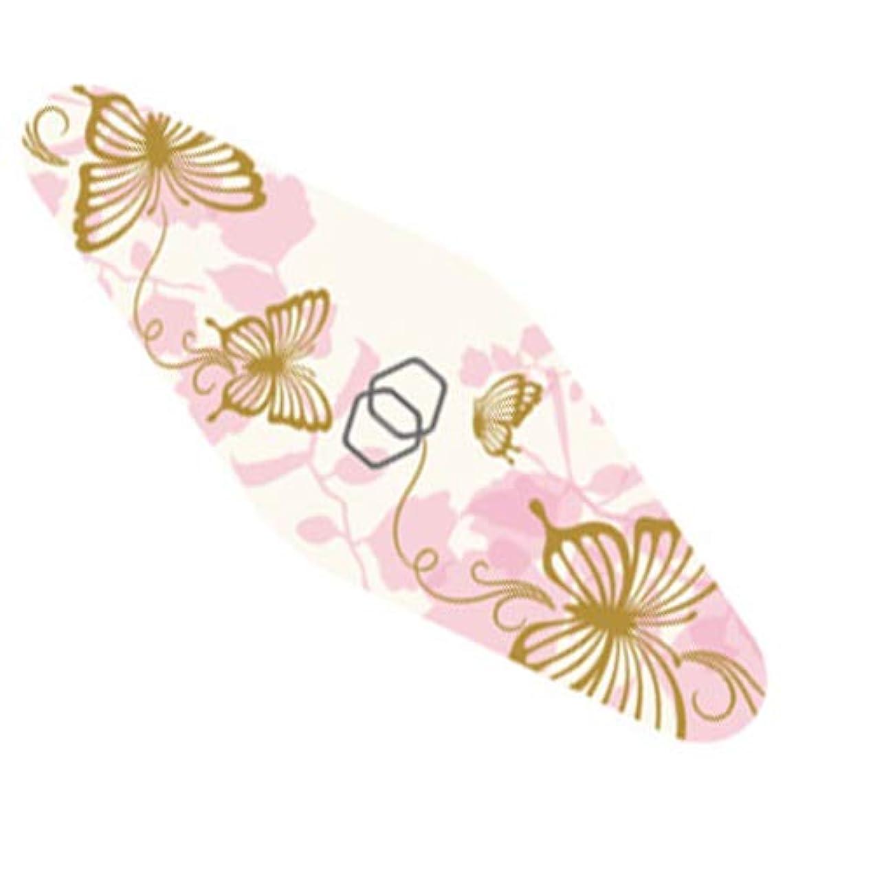 神社怒っているメタリックダイヤモンドネイルファイル キャリー ピンク蝶々