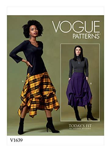 Vogue Patronen-V1639A-Mist Rokken, Papier, Wit, diverse