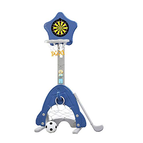 Xinrangxin 4-in-1 Children's Basketball Stand, Adjustable Easy-Scoring Basketball Hoop, Football/Soccer Gate, Used for Professional Indoor Toys, Best Gift for Babies and Toddlers