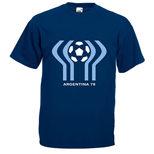 Mens World Cup Argentina 78 T-Shirt, Navy, Large
