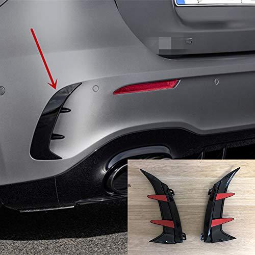 2Pcs Adesivi Spoiler per paraurti Posteriore per paraurti Posteriore Canards Alette per Mercedes Benz Classe A W177 Hatchback A180 A200 A220 A250 A35 2019+