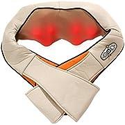 Powerlead appareil de massage du cou pour les épaules avec têtes de massage 3D Appareil de massage pour les douleurs musculaires au bureau et à la voiture