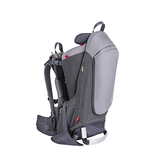 phil&teds Escape Child Carrier Frame Backpack, Charcoal – Height Adjustable Body-Tech Harness...