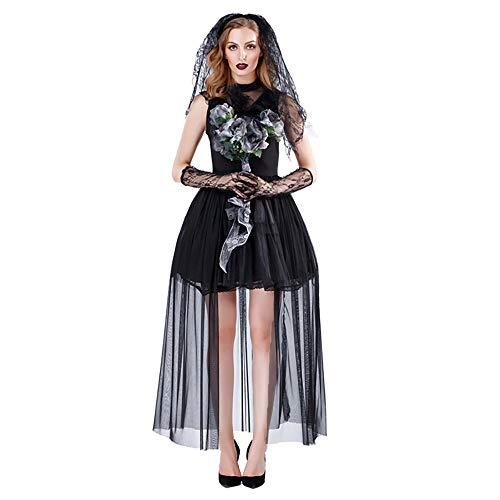 LDSSP Erwachsene Frauen Horror Zombies Geister Braut Kostüm Halloween Party Cosplay Devil Vampire Kostüm XL A