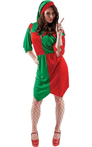 ORION COSTUMES Déguisement Adulte Costume Noël Femme Tenue d'Elfe Lutin